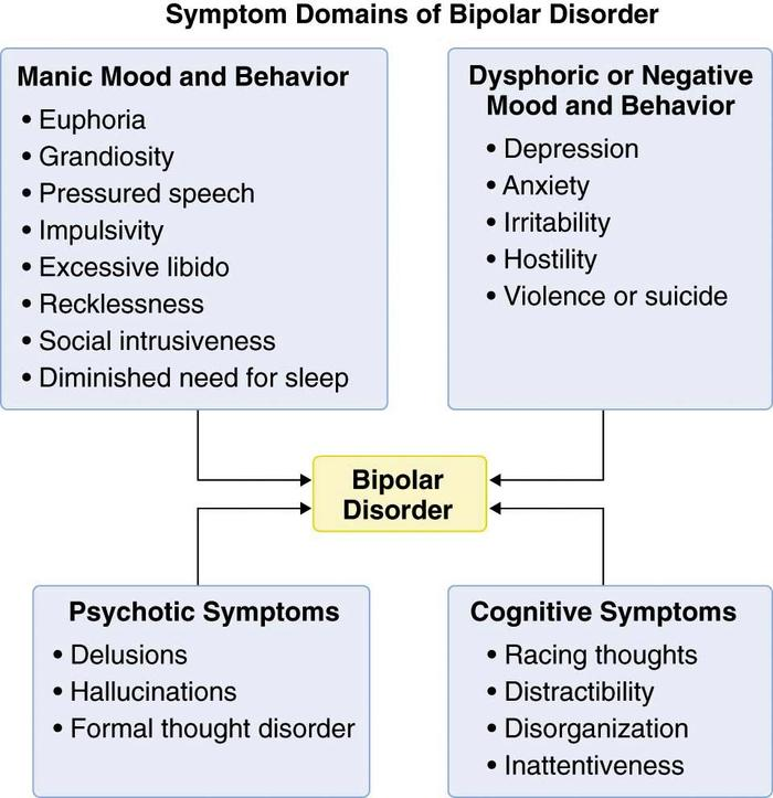 An analysis of the symptoms and treatment for people with bipolar disorder