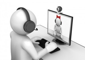 Online treatment. 3d animation using a webcam.