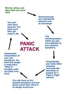 Panic Attack Circle explained. Interesting panic attacks facts.