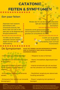 Catatonie symptomen en feiten - infographic.