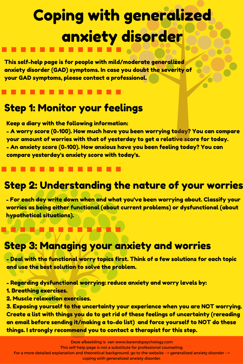 coping with generalized anxiety disorder in 4 easy steps.