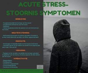 Acute stressstoornis symptomen